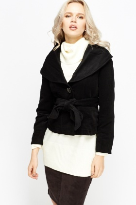 Round Collar Cropped Jacket
