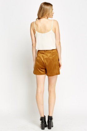Velveteen High Waist Short