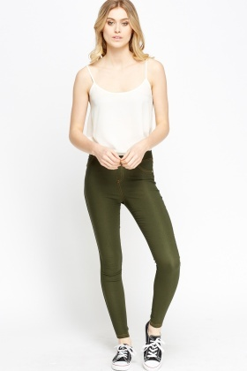 Elasticated Slim Leg Leggings