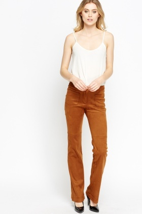 Pocket Front Flare Trousers