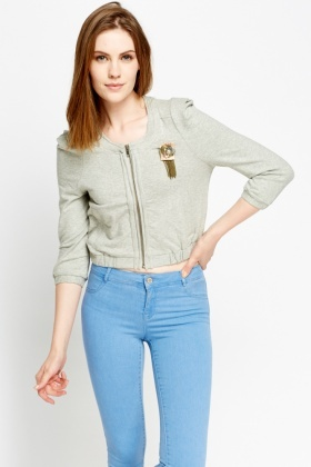 Broche Cropped Jacket