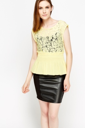 Lace Insert Elasticated Top
