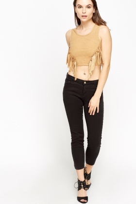 Tassel Front Cropped Top