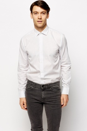 Pinstripe Cotton Smart Shirt