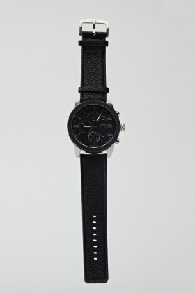 Mens Mock Crock Chronograph Watch