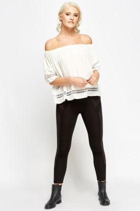 Insert Side Black Leggings