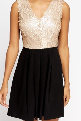 Sequin Top Skater Dress