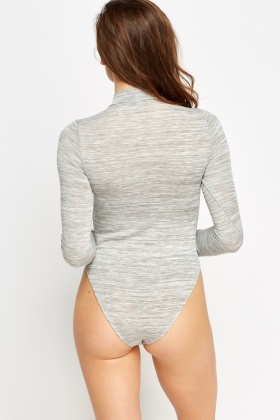 High Waisted High Neck Bodysuit