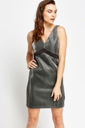 Scuba Metallic Dress