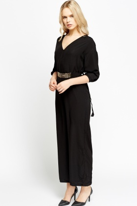 Black Belted Jumpsuit - Just £5