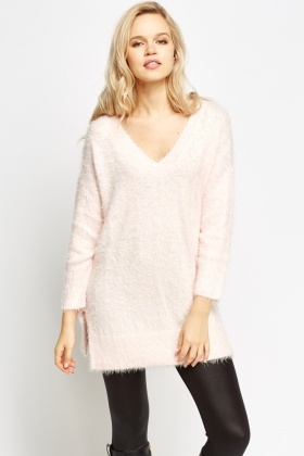 Slit Side Eyelash Jumper