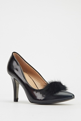 PVC Court Heel Shoes