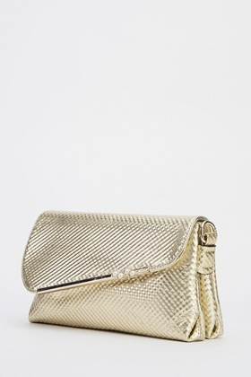 Gold Metallic Clutch Bag Just 6