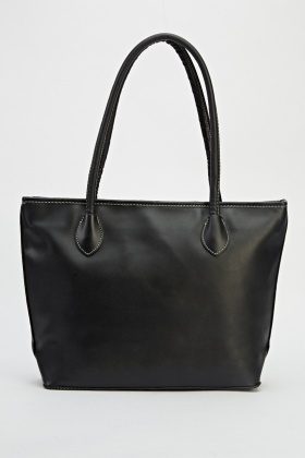 Magnetic Logo Zipped Tote Bag