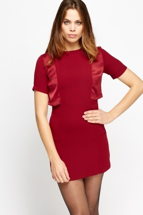 Contrast Overlay Mini Dress