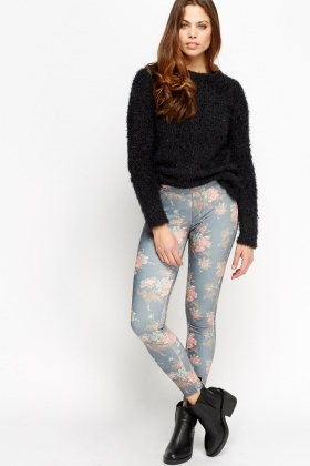 Floral Printed Jeggings