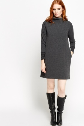 High Neck Jumper Insert Dress