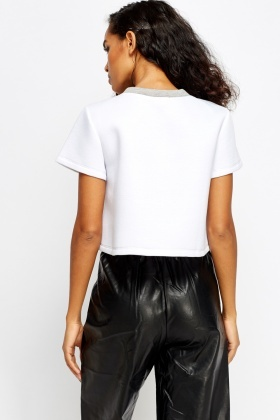 Logo Front Scuba Cropped Top