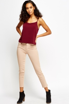 Peach Skinny Fit Jeans