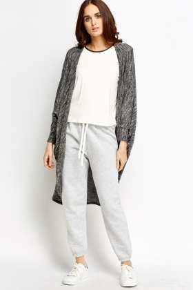 Batwing Speckled Long Cardigan
