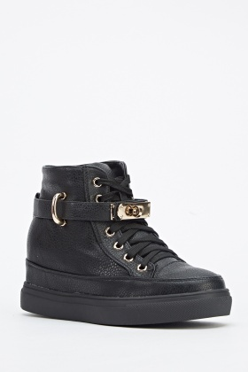High Top Black Trainers