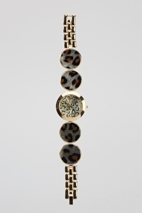 Leopard Print Detailed Watch