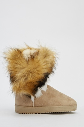 Faux Fur Ankle Boots - Just £5