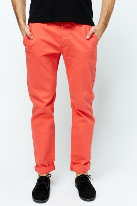 Straight Leg Mens Chino Trousers