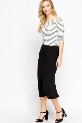 Black Formal Midi Skirt - Just £5
