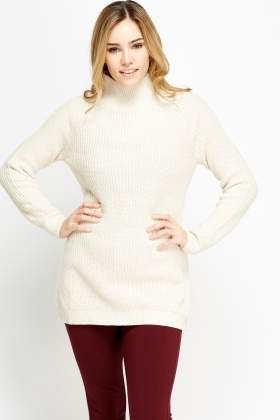 a475146640680 Ribbed Roll Neck Casual Jumper - Just £5