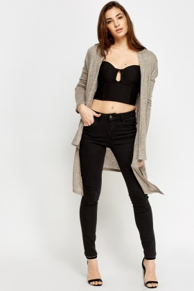Ash Asymmetric Open Cardigan