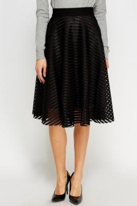 quality noveldesign colours and striking Mesh Midi Skater Skirt