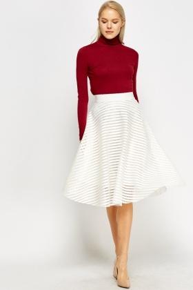 Mesh Midi Skater Skirt - Just £5