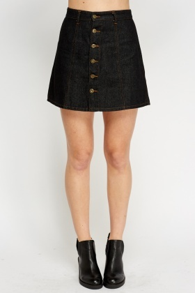 Button Front High Waisted Skirt - Just £5