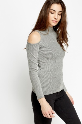 cute best selection of preview of Cold Shoulder Ribbed Top
