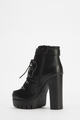 2989162c8d1 High Block Heel Ankle Boots - Just £5