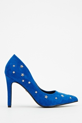 Star Studded Court Mid Heels