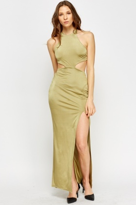 Backless Cut Out Maxi Dress