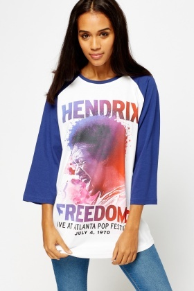 Hendrix Printed Long Sleeve T-Shirt