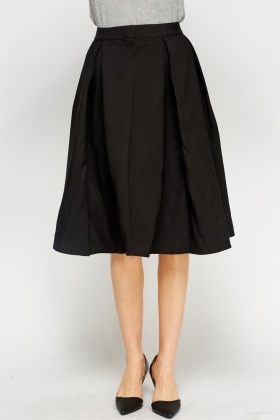 High Waist Black Midi Skirt - Just £5