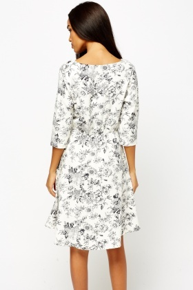 Wrapped Multi Floral Dress