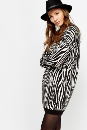 Zebra Print Jumper Dress