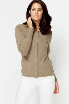 Round Neck Button Cardigan