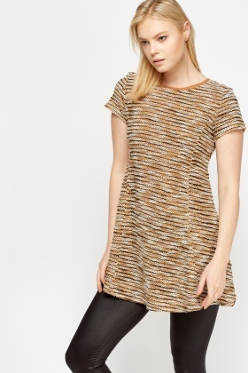 Bobble Knit Shift Top