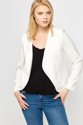 Open Front Smart Casual Blazer