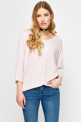 Light Pink V-Neck Top