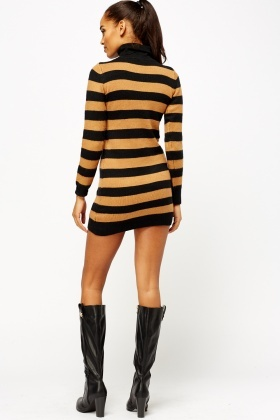 Roll Neck Knitted Dress