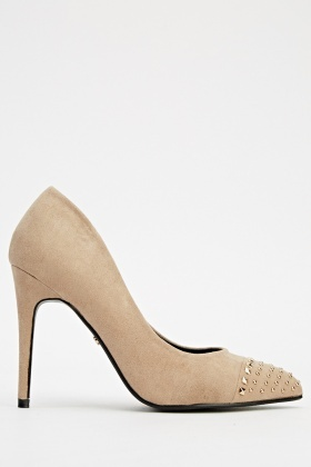 Studded Court Low Heels