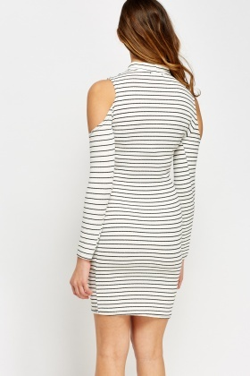 Ribbed High Neck Midi Dress