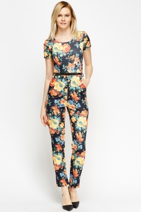 Formal Belted Jumpsuit